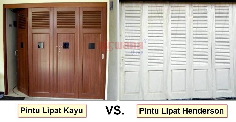 pintu lipat kayu vs pintu lipat henderson